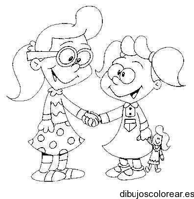 Dibujo de dos niñas