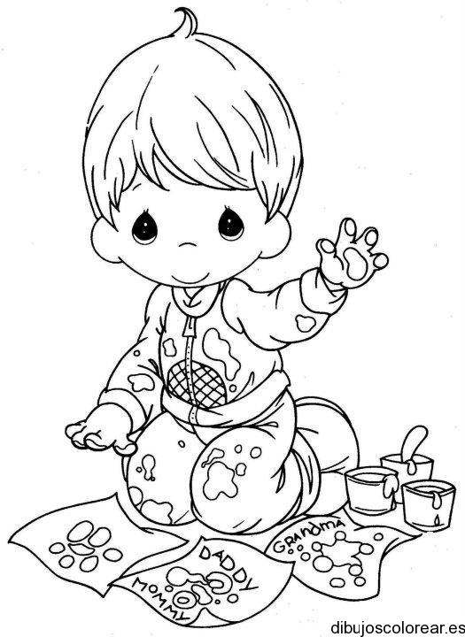 Dibujo de un niño pintando