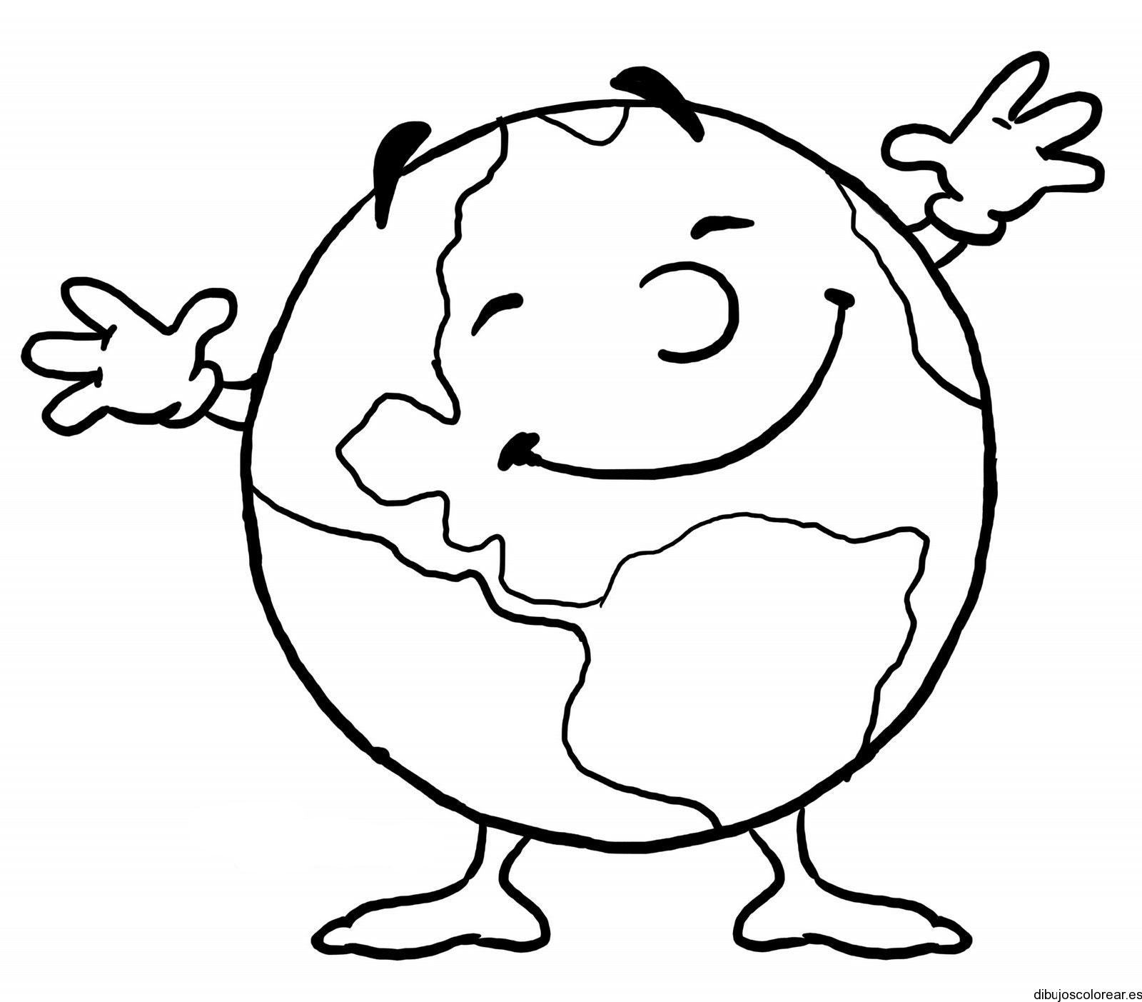 Dibujo el mundo sonríe | Dibujos para Colorear