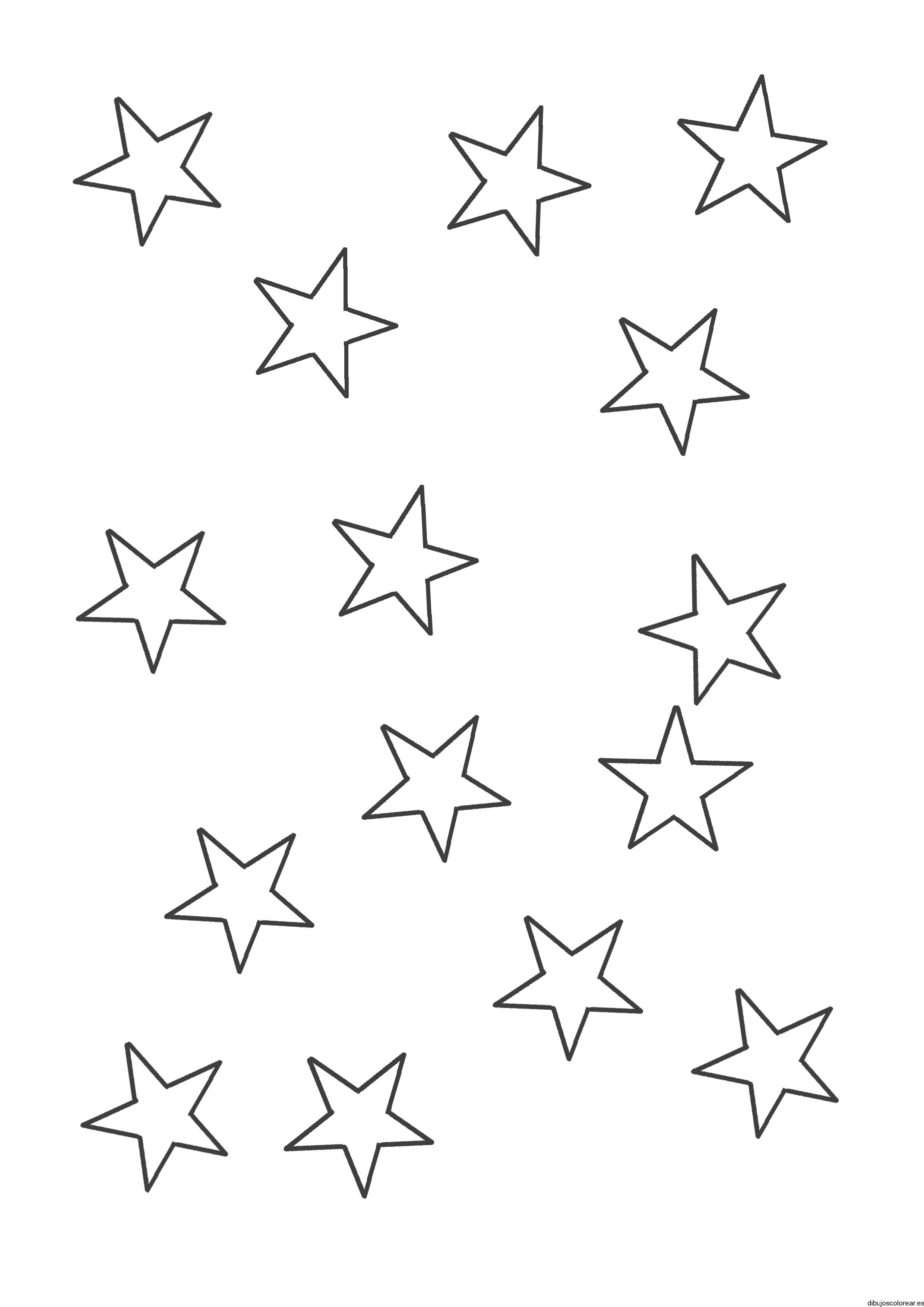 Dibujo De Estrellas Medianas