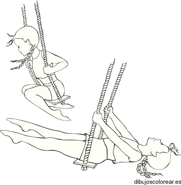 Dibujo De Una Nina Jugando En Un Columpio on Woody Coloring Pages