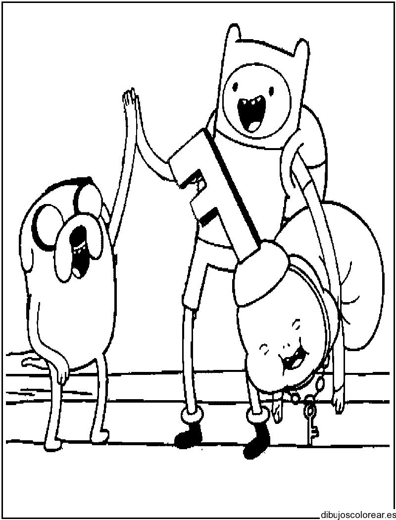Dibujo de los amigos de Hora de aventura
