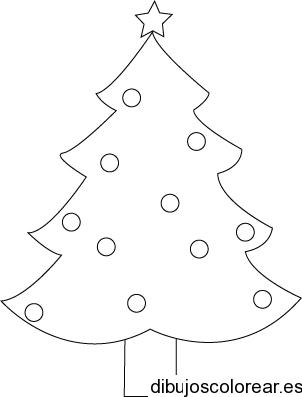 Dibujo De Un árbol Navideño Con Estrella