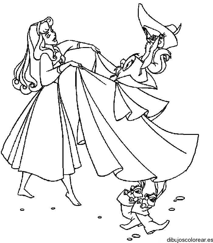 Dibujo de la princesa aurora bailando - Coloriage virtuel ...