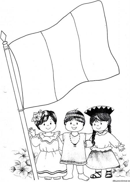 bandera-del-peru-para-colorear