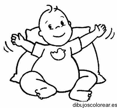 Dibujo de un bebé sentado