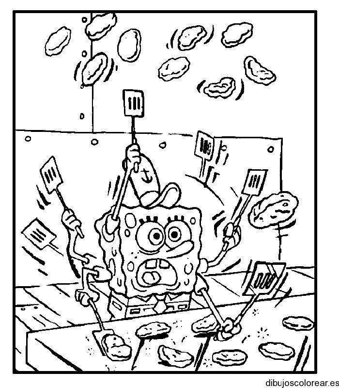 Dibujo De Bob Esponja Cocinero