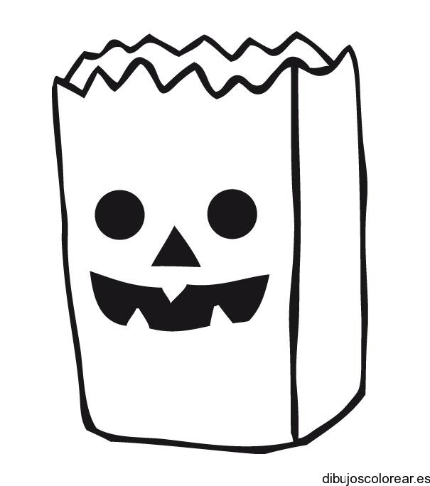 Dibujo de una bolsa de papel - Papel para dibujar ...