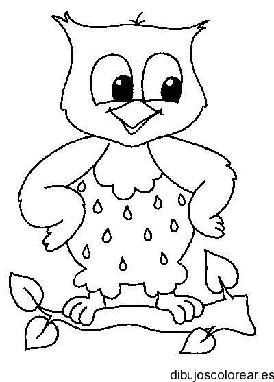 Dibujo de un búho sonriendo