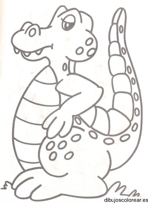 Dibujo de un caimán | Dibujos para Colorear