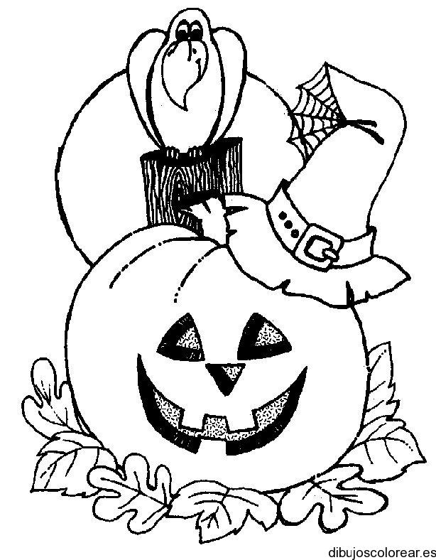 Calabazas Halloween Para Colorear - Diseño Moderno Para El Hogar ...