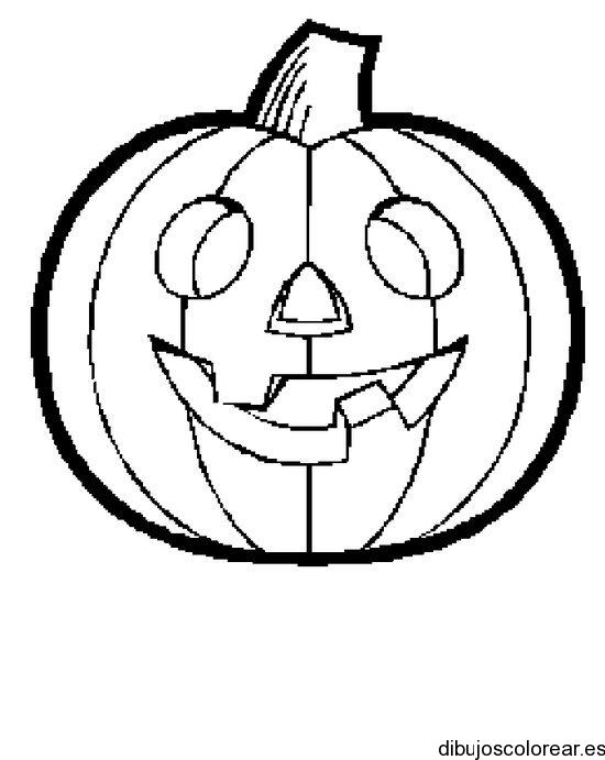 Dibujo de una calabaza de halloween - Pintar una calabaza de halloween ...