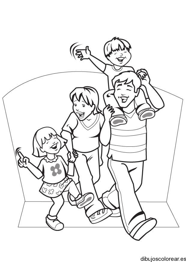 Dibujo De Una Familia Riendo