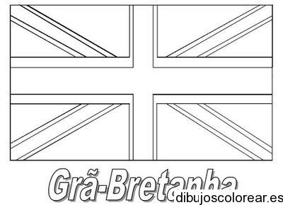 Dibujo De La Bandera De Reino Unido