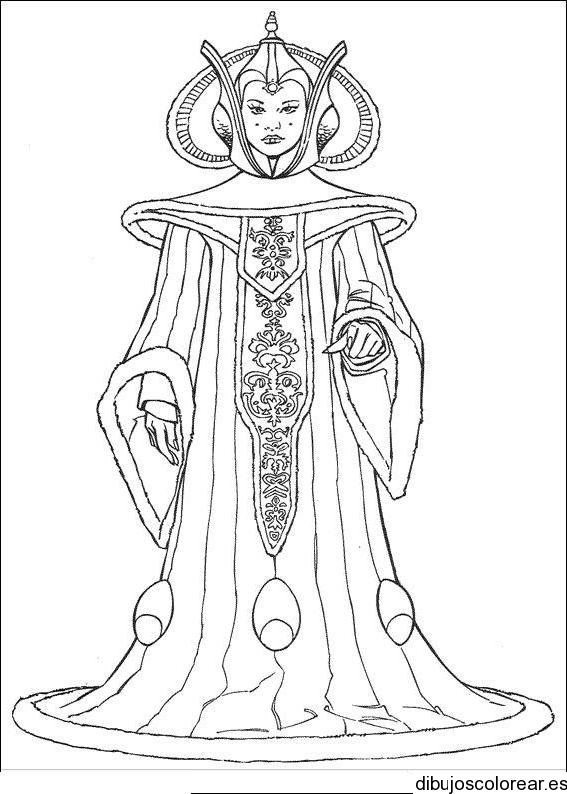 Dibujo De La Reina Amidala