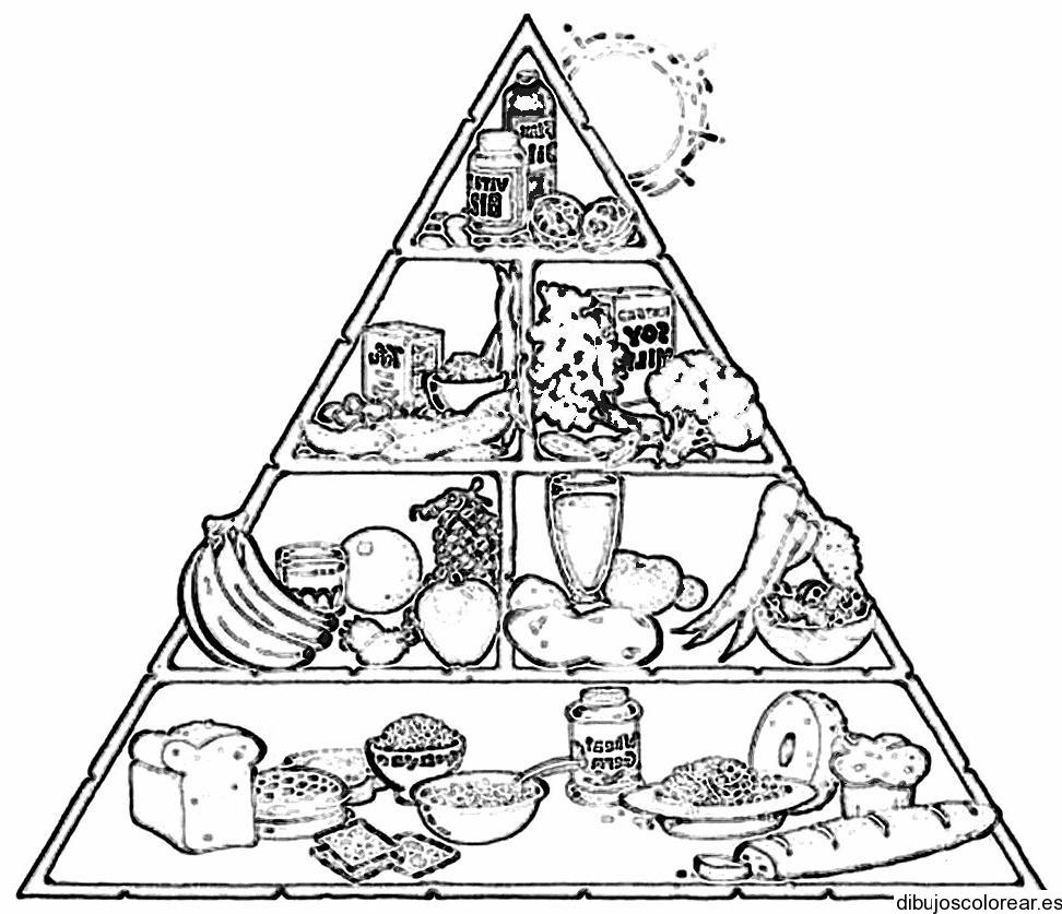 Dibujo de la tabla de alimentos