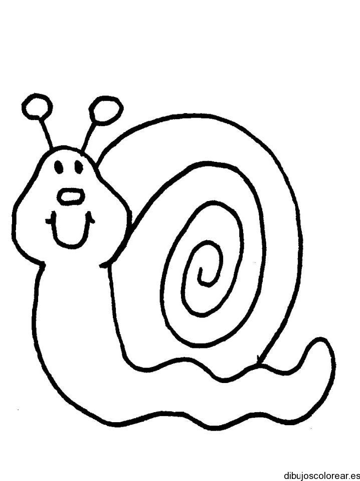 Dibujo de un caracol mirando
