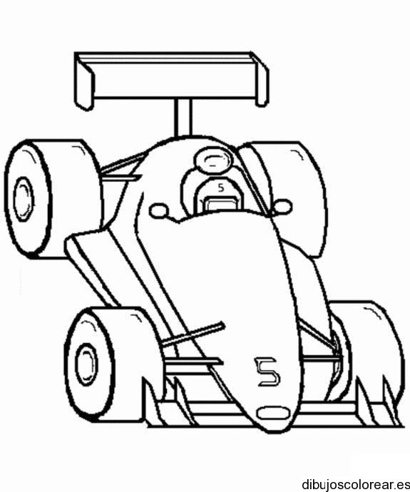 Dibujo de un coche de carreras en la meta  Dibujos para Colorear