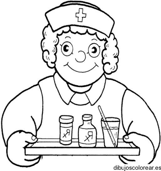 Dia de la enfermera para colorear - Imagui