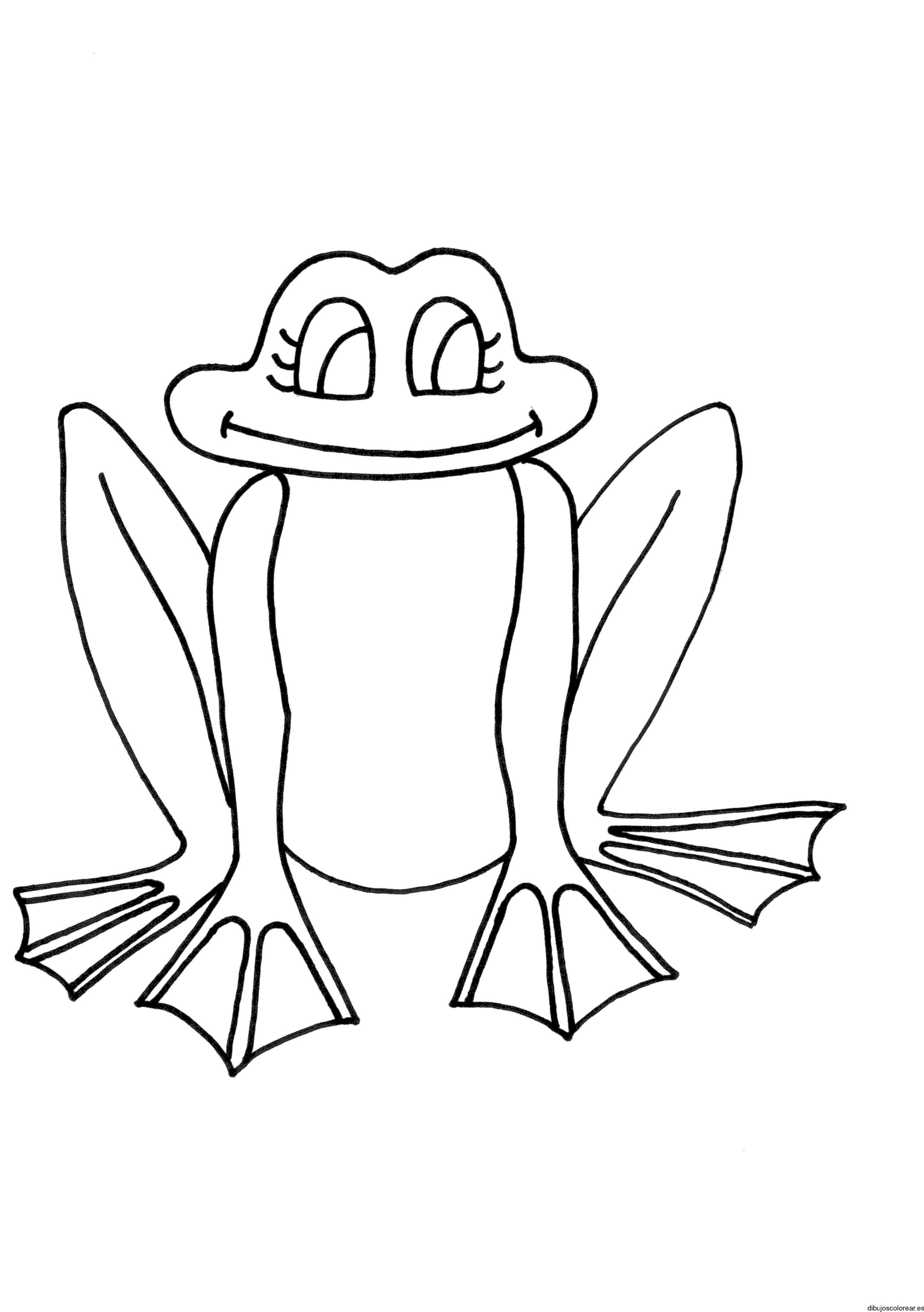 Dibujo de una rana