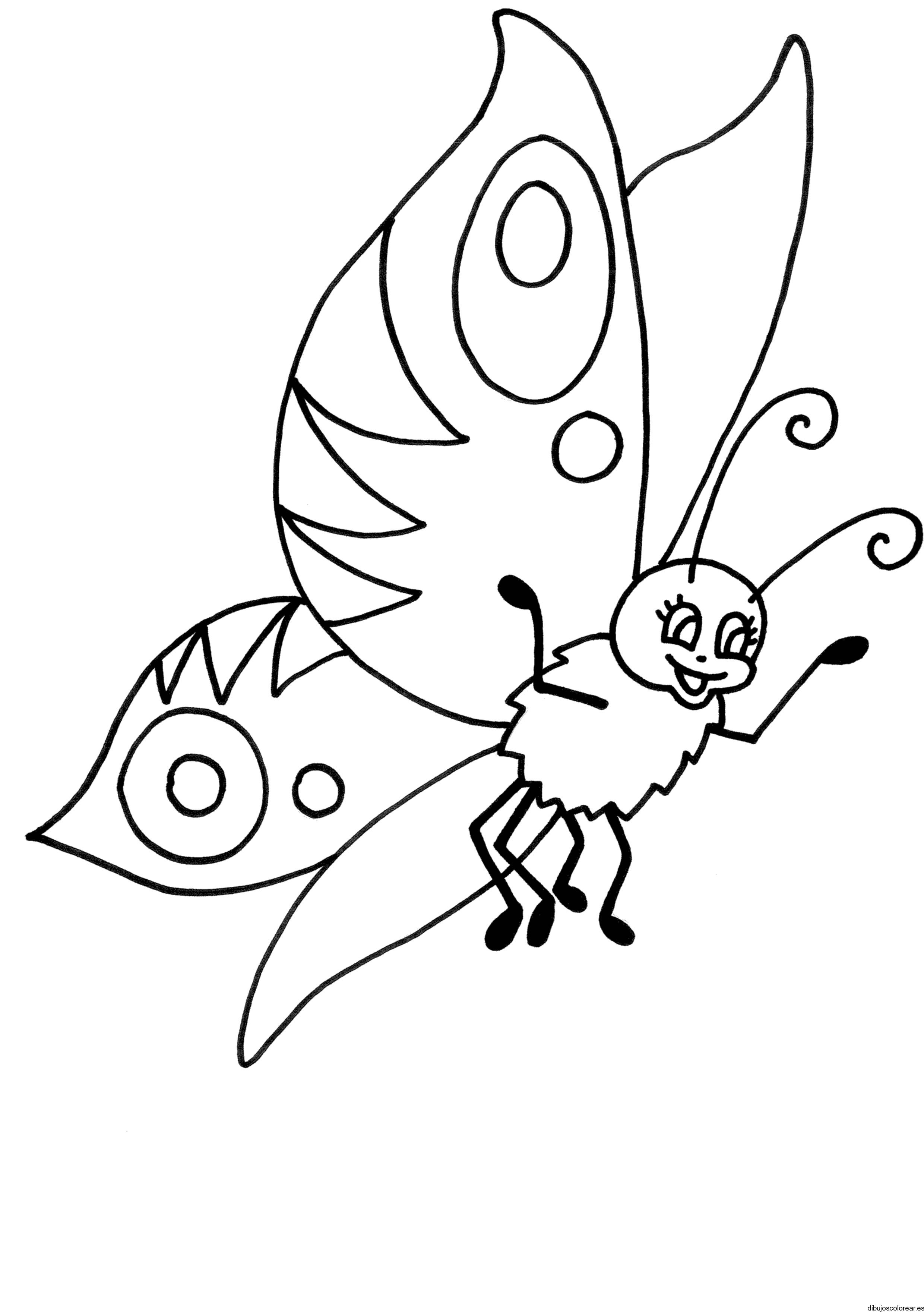 Dibujo de una mariposa pequeña