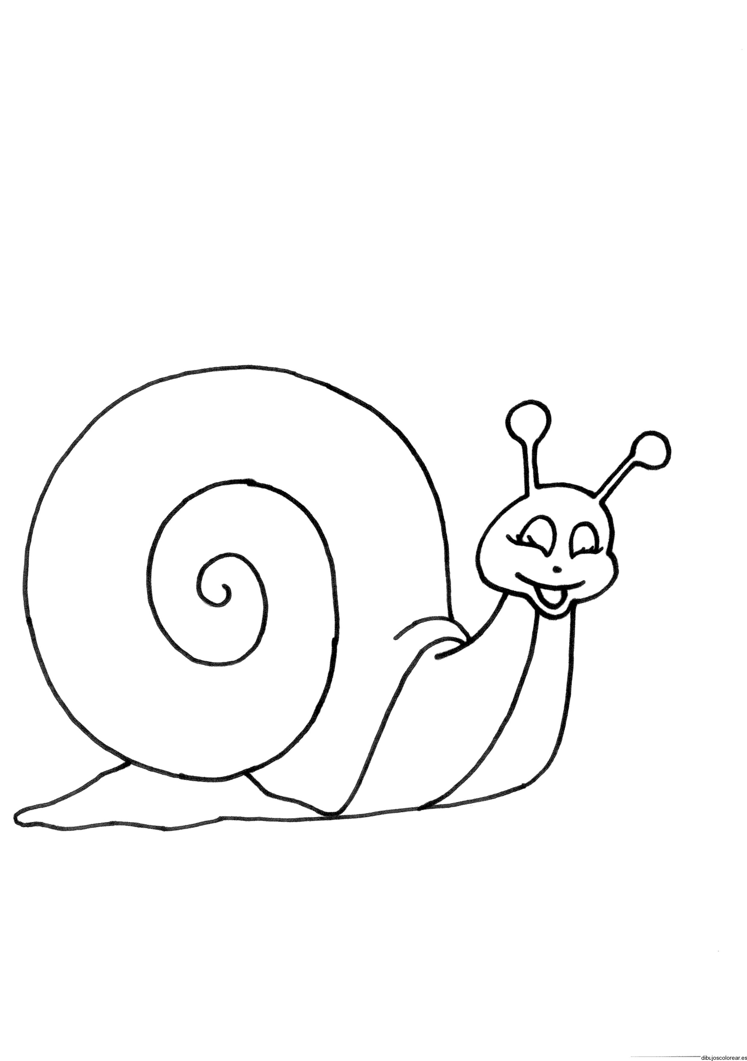 Dibujo de un caracol sonriendo