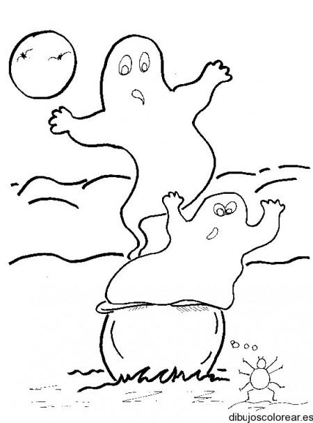 dibujo-colorear-ghosts-w-spider