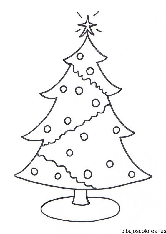 Arboles navideños   Dibujos para Colorear