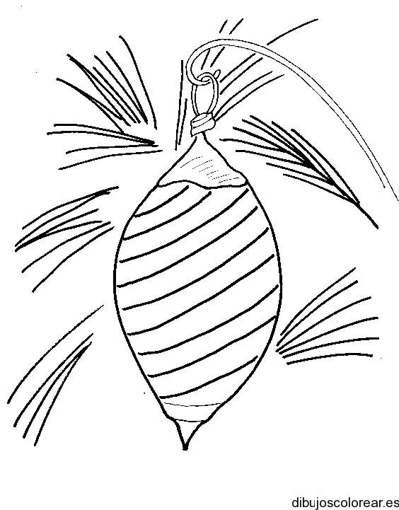 Dibujo de una esfera navideña