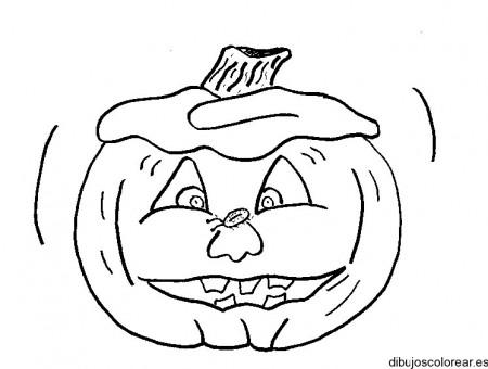 dibujo-colorear-pumpkin-w-bug