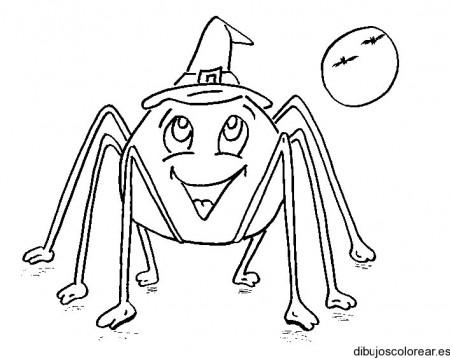 dibujo-colorear-spider-smile