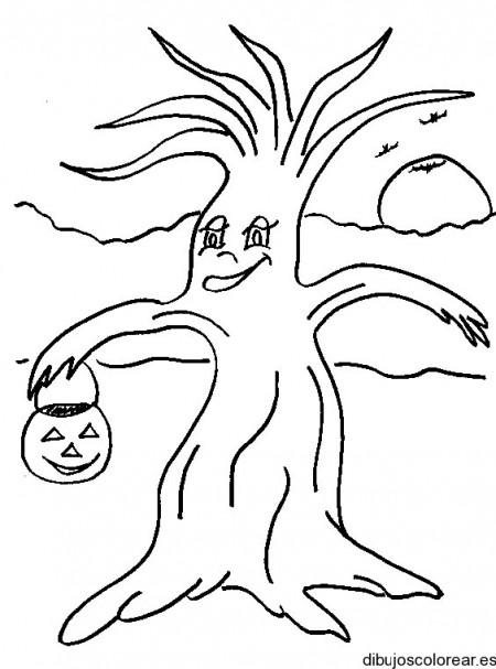 dibujo-colorear-tree-trick-r-treat