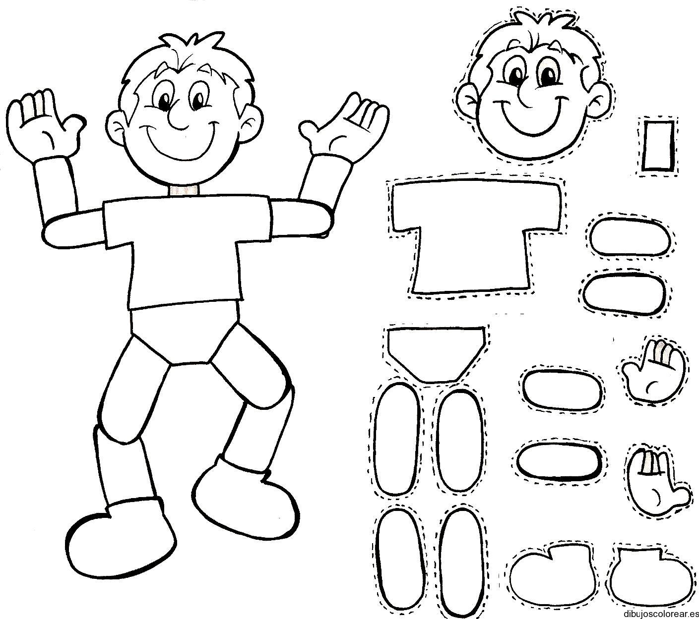Rompecabezas del cuerpo humano para imprimir para niños - Imagui