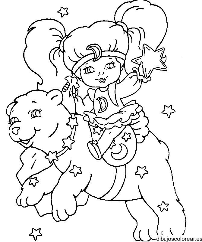 Dibujo de una niña y un oso