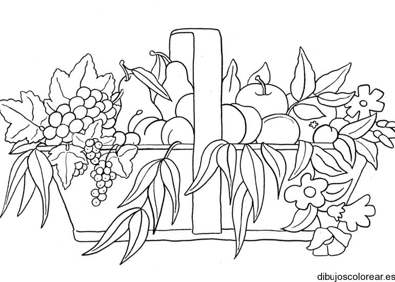 Dibujo De Canasta De Frutas