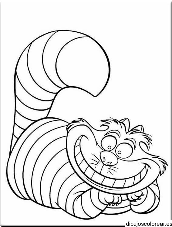 Dibujo del gato de Cheshire