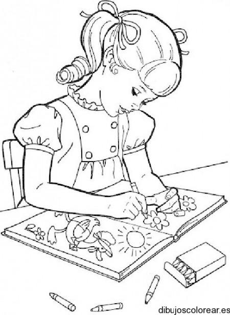Dibujos De Las Niñas Estudiando Imagui