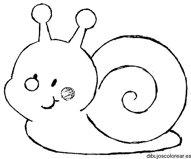 Dibujo de un caracol sonriente