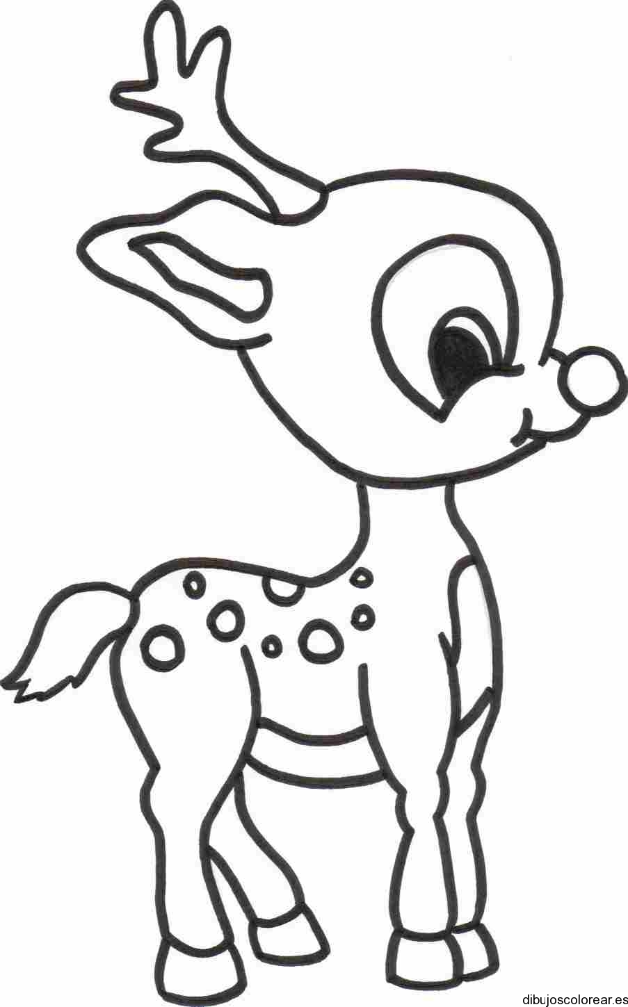 Venado Animado Dibujo Colouring Pages page 2