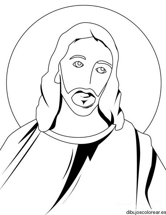 Único Imagen De Jesus Para Colorear Molde - Dibujos Para Colorear En ...