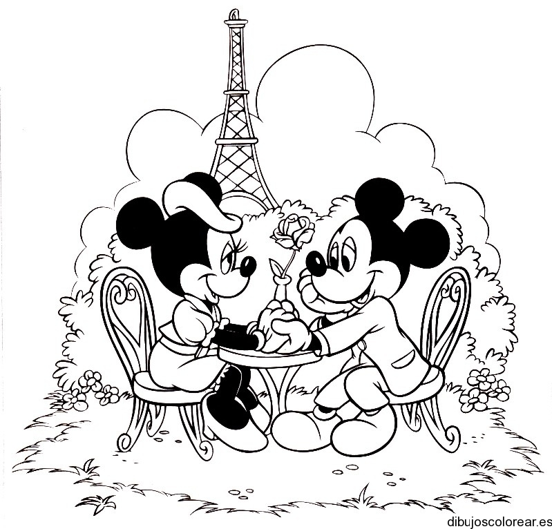 Dibujo De Minnie Mickey Mouse En París