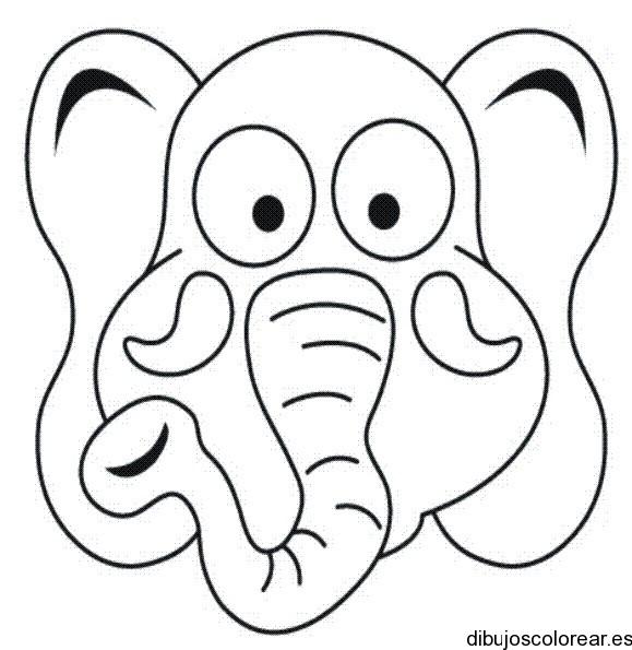 Dibujo de un elefante asustado  Dibujos para Colorear