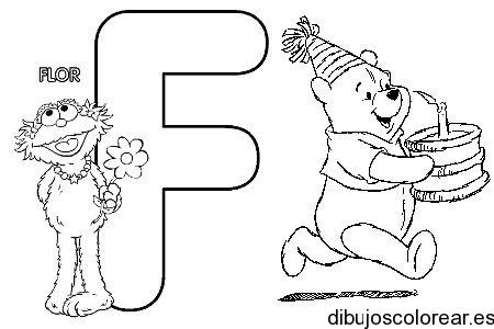 Dibujo de la Letra F