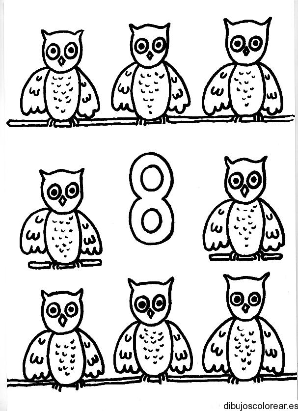 Dibujo del número 8