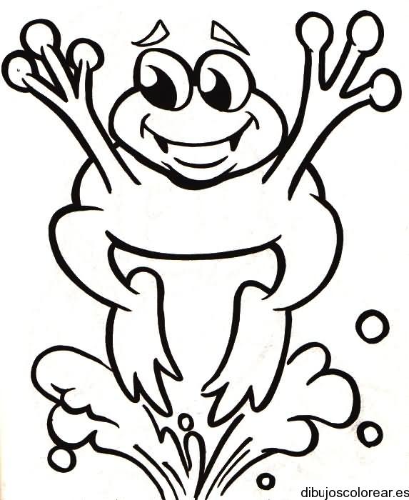 Dibujo de una rana saltando