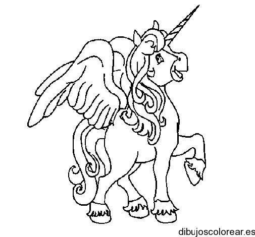 Dibujo de un gracioso unicornio