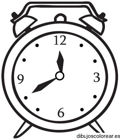 Dibujo de un reloj despertador