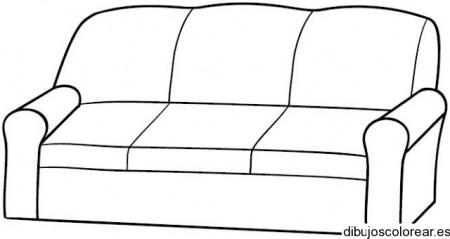 Dibujo de un sof grande for Dibujar un mueble en 3d