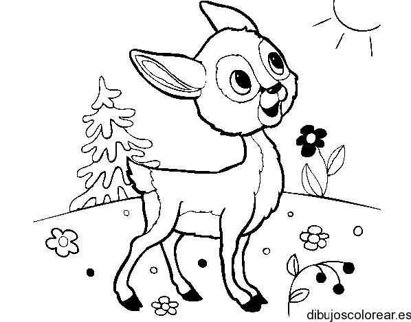Dibujo de Bambi bajo el sol