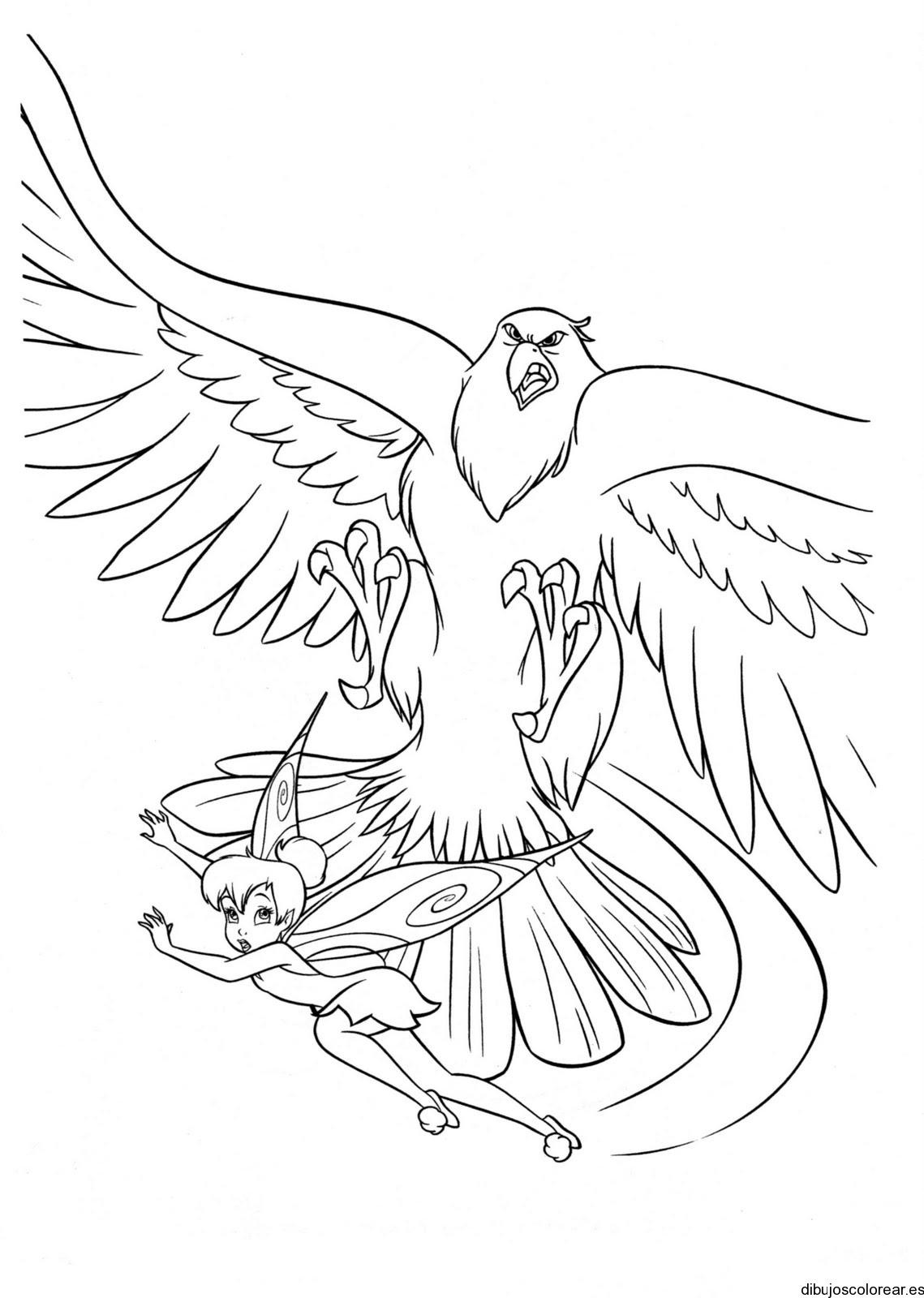 Dibujo de un águila y campanita